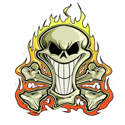 skull sticker pack for iOS messages