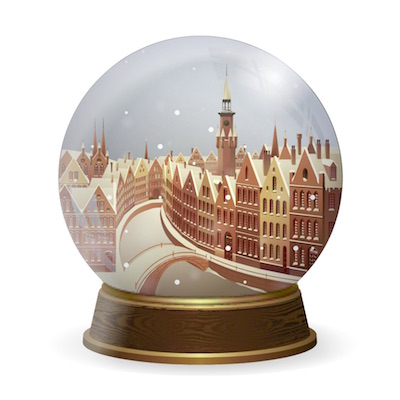 snow globe stickers for iOS messages