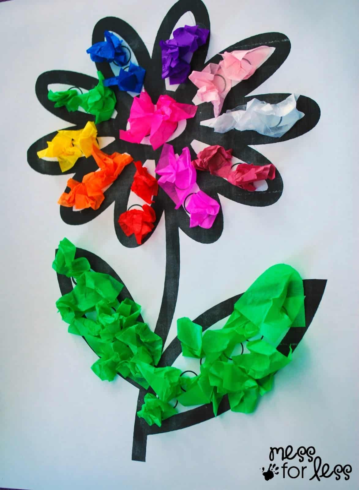 Art Craft Ideas Tissue Paper Flower Art Activity Mess For Less