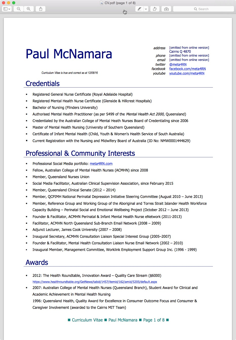 australian registered nurse resume sample