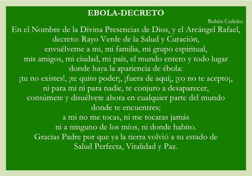 Ebola Decreto