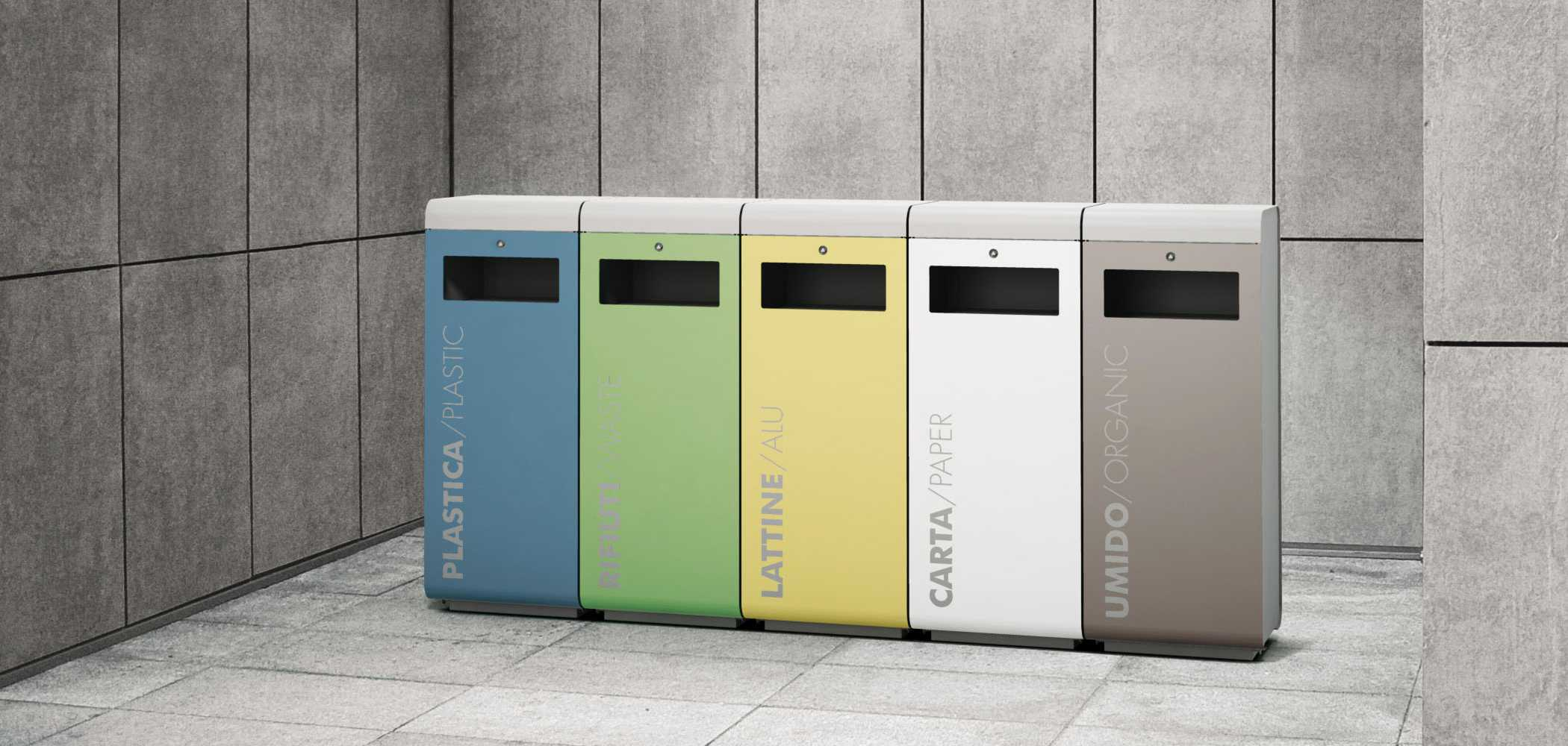 Design Papierkorb Ecoside Litter Bin - Metalco