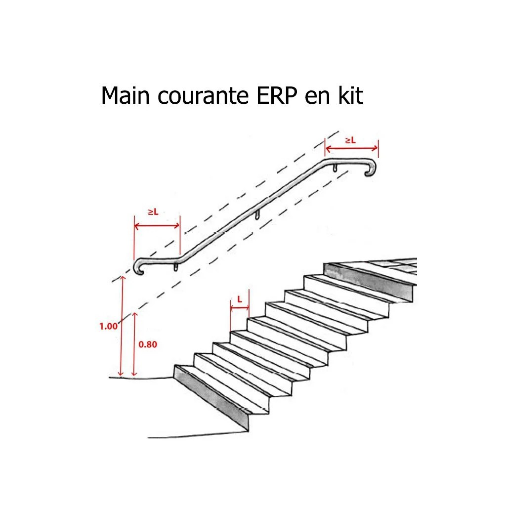 Main Courante Exterieur Main Courante Inox Erp Pmr En Kit