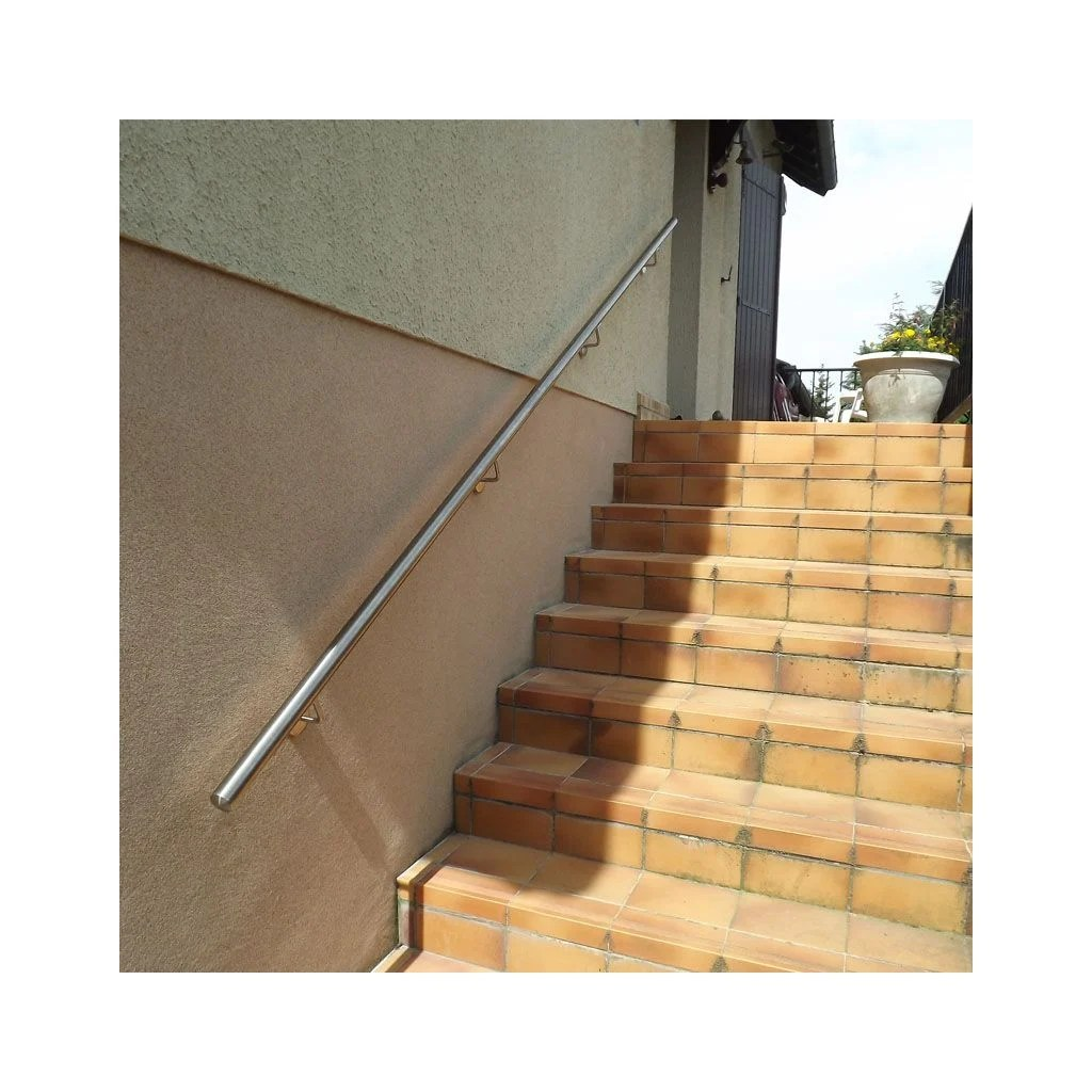 Rampe Escalier Exterieur Photo Main Courante Inox En Kit