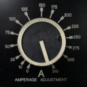 Amperage dial is pinned