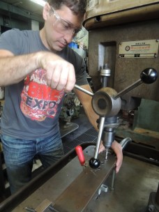 drilling H2O boss holes