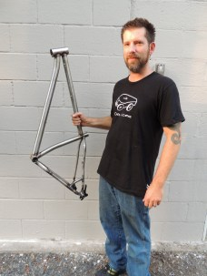 Sean with finished frame