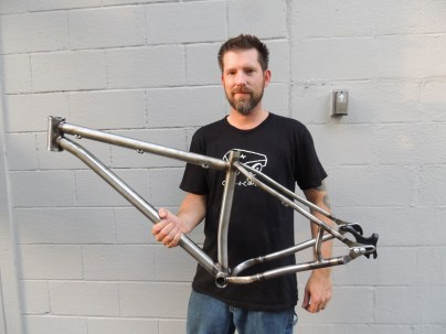 Sean with finished frame 2