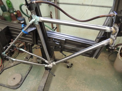 frame in jig