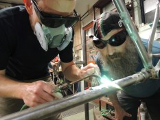 Rob brazing H2O bottle bosses
