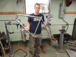 Rob with tacked frame
