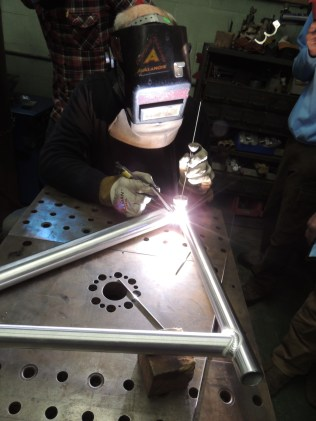 Frank welds front triangle 2