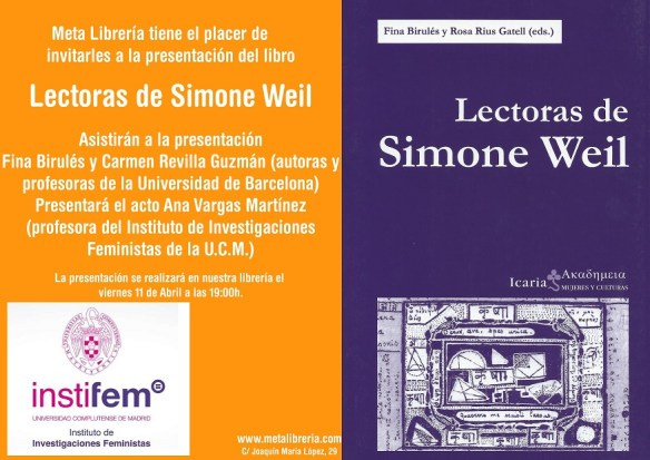 pres lectoras de Simone Weil-