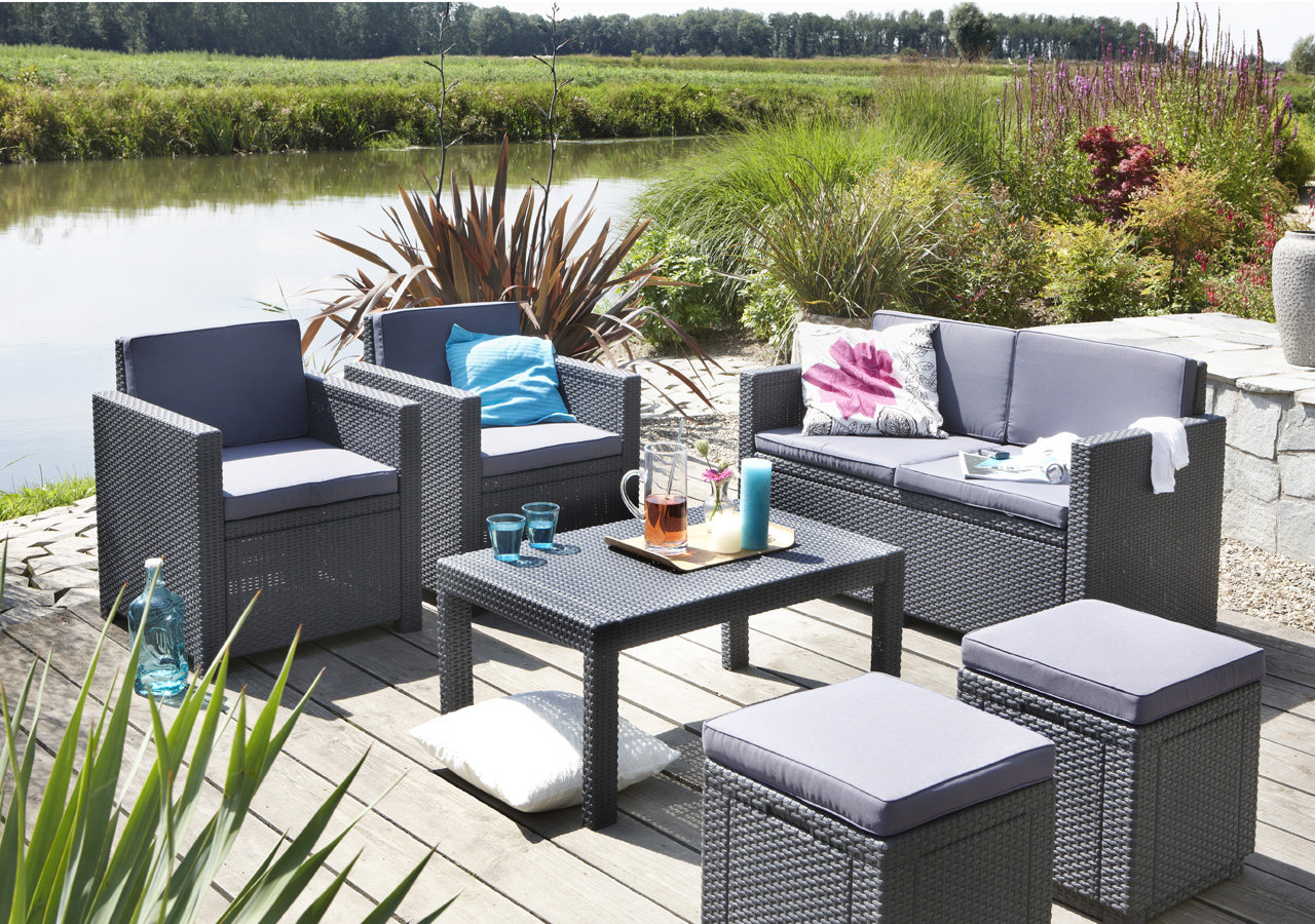 Salon De Jardin Allibert Lounge Set Allibert Victoria Affordable Beautiful Salon De Jardin