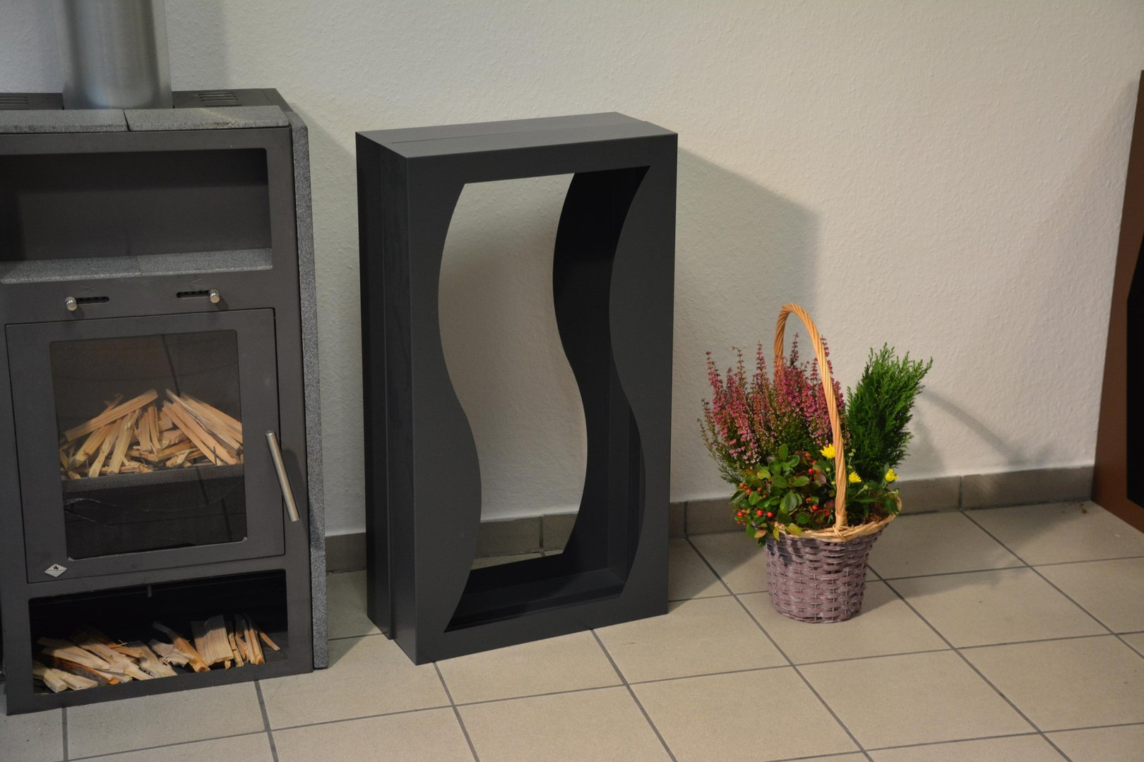 Kamin Regal Metall Kaminholzregal Metall Welle Innenbereich Regal Aus Metall