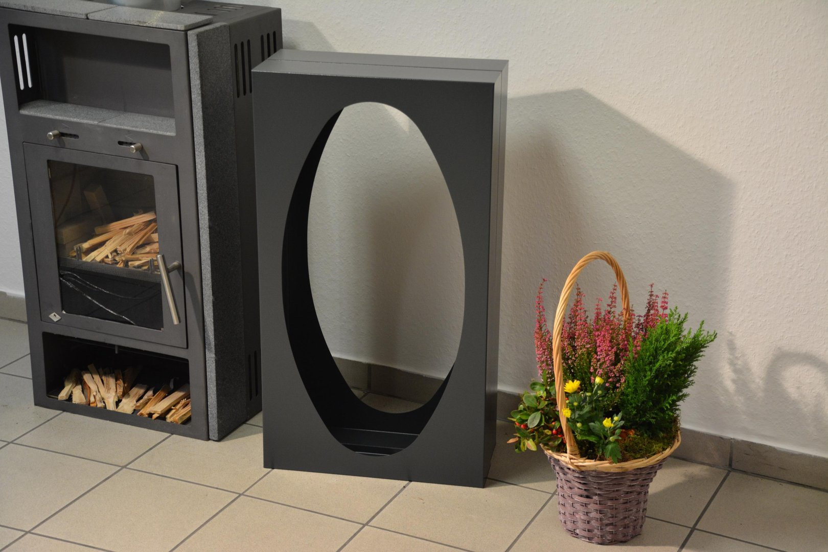 Kamin Regal Metall Kaminholzregal Metall Oval Innenbereich Regal Aus Metall