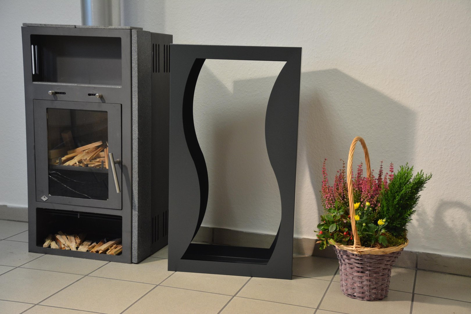 Kamin Regal Metall Kaminholzregal Welle Innenbereich Regal Aus Metall