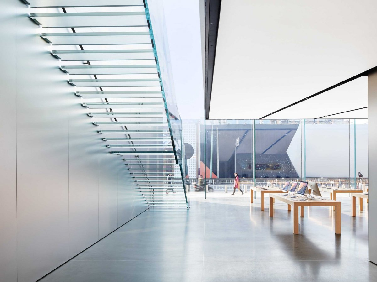 Support De Store Banne Biggest Apple Store In Asia By Foster 43 Partners Metalocus