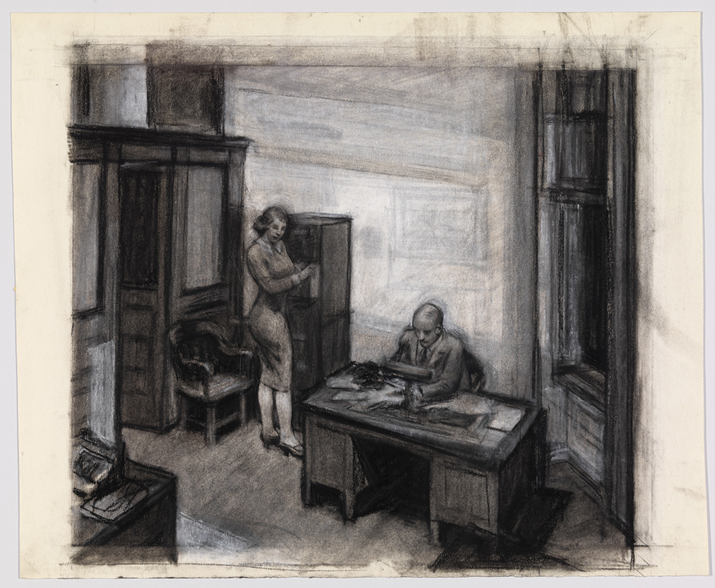 La Chambre A New York Edward Hopper Hopper Drawing At Whitney Museum Metalocus