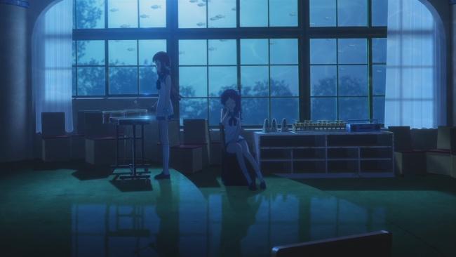 Manaka and Chisaki heart to heart