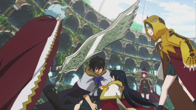 Witch Craft Works-Honoka protects Ayaka