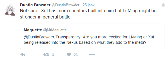Tweet dustin browder