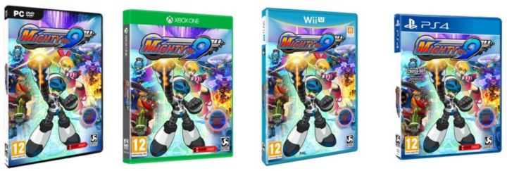 Mighty No 9 Xbox 360 Xbox One PC PS Vita PS3 PS4 Wii U 3DS