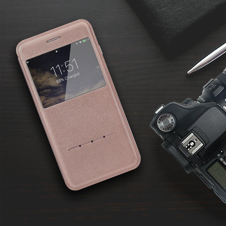 ivapo coque iphone 7 en cuir et rabat magn tique metatrone. Black Bedroom Furniture Sets. Home Design Ideas