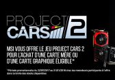 MSI offre project cars 2 gratuit