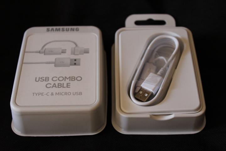Câble combo USB-C Micro USB officiel Samsung 14
