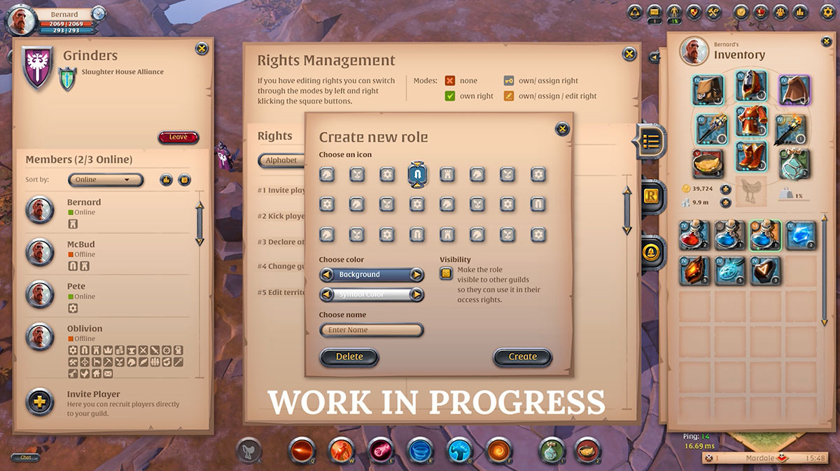 Albion online mise à jour guilde Lancelot 3