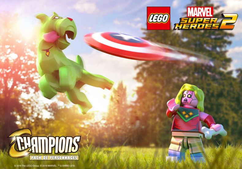Pack de personnages Cahmpions LEGO Marvel Super Heroes 2