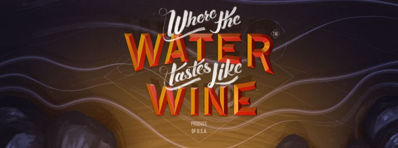 Where the water tastes like wine sting