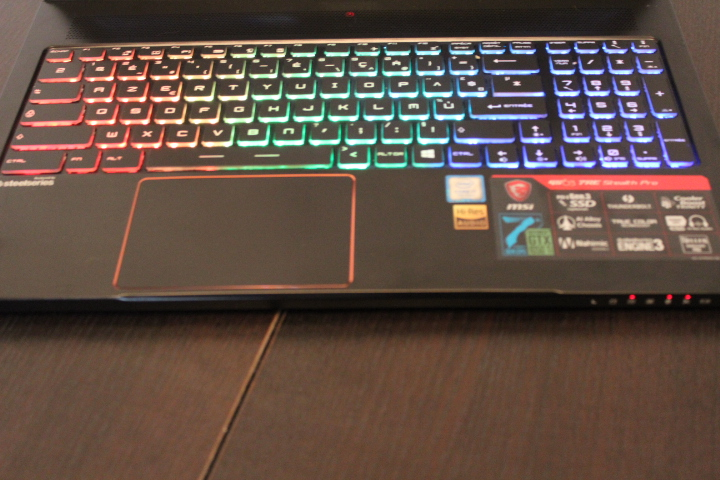 Test MSI GS63 7RE Stealth Pro Screen156