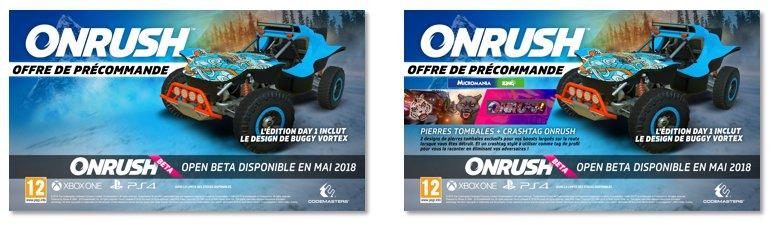 offres précommande ONRUSH PS4 Xbox One