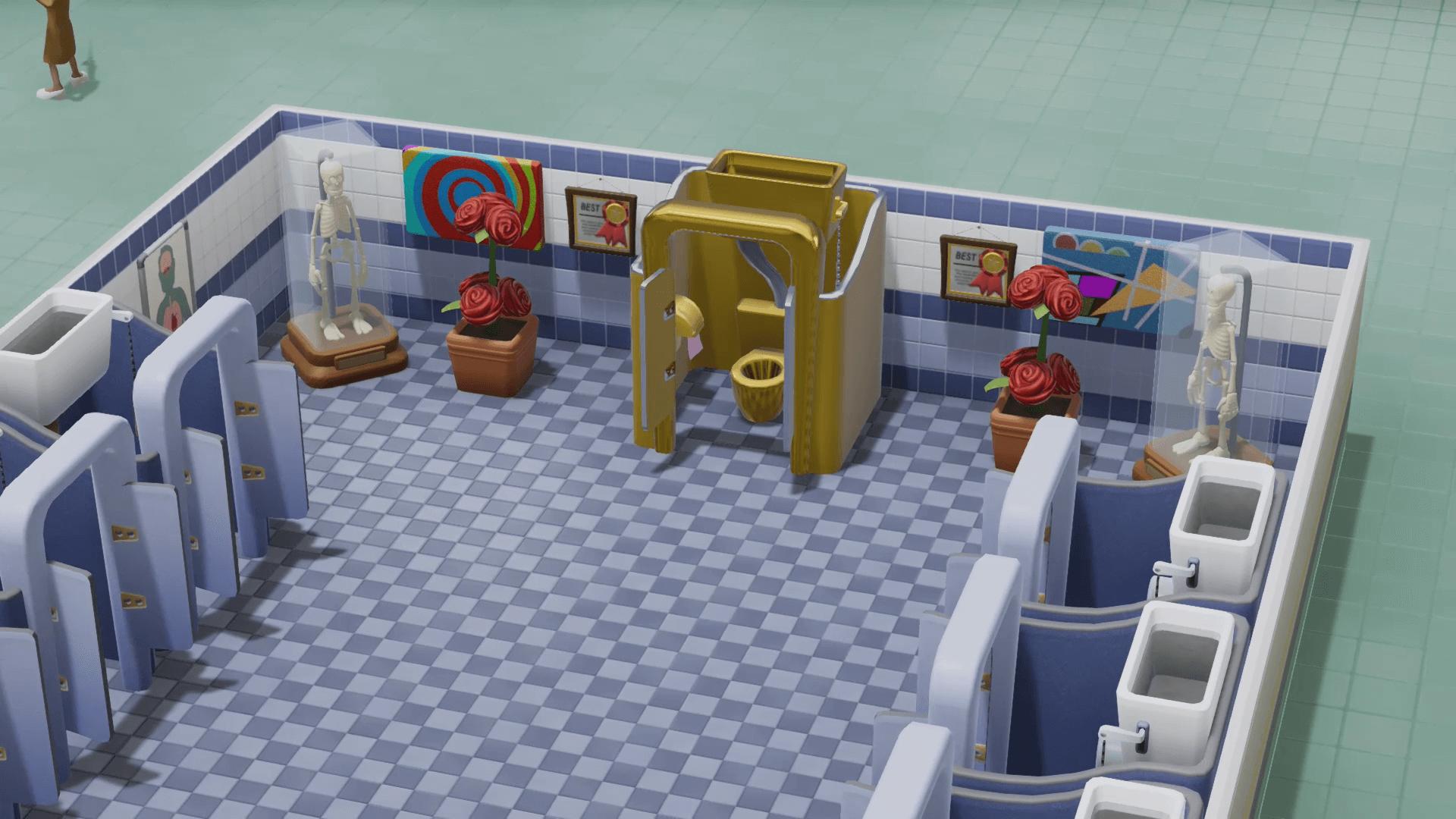two point hospital toilettes en or 1