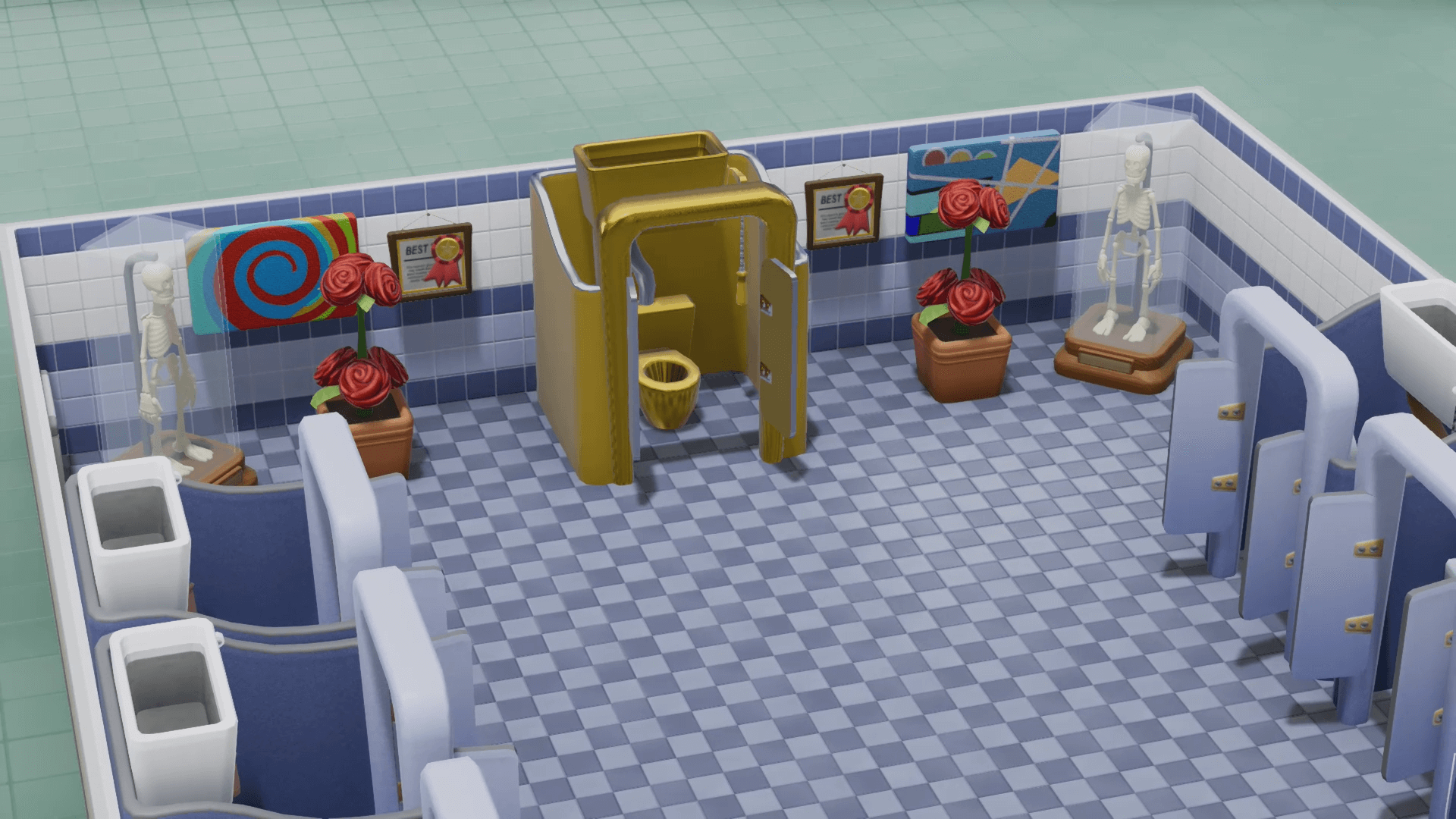 two point hospital toilettes en or 2