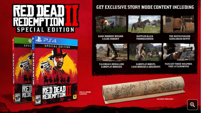 Les éditions collector Red Dead Redemtpion PS4 Xbox One précommandes