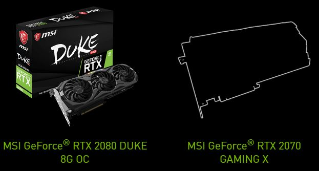 carte graphique MSI Geforce RTX 20 series screen2