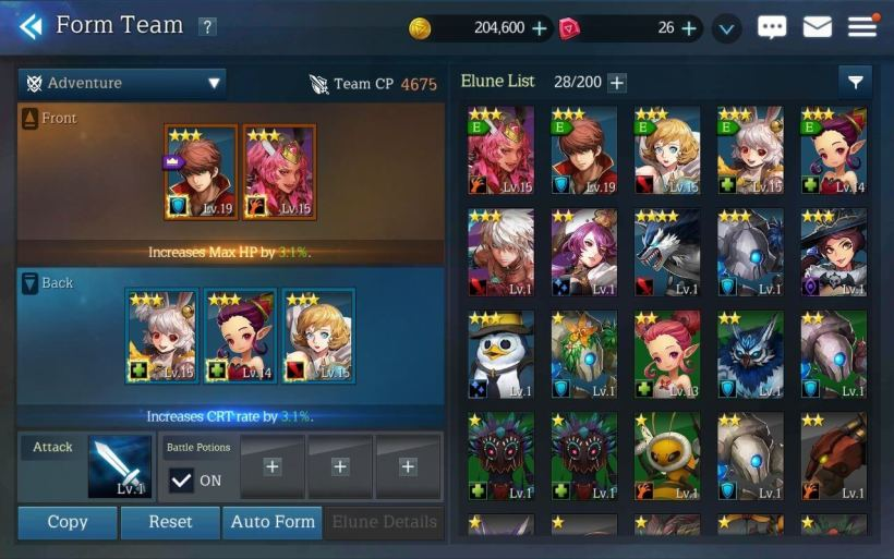 Elune rpg free android 1