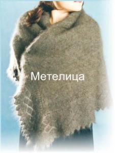 Оренбургский пуховый платок среднего размера