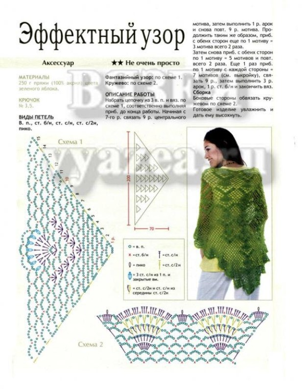 Зелёная накидка