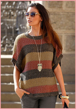 Полосатый пуловер