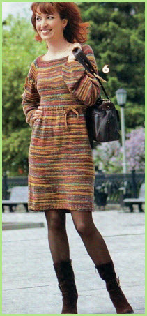 На фото меланжевое платье