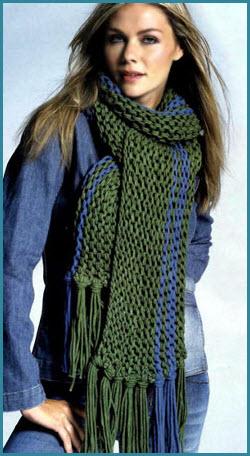 Зелёный шарф