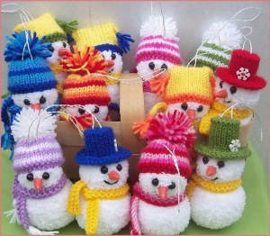 Корзина снеговиков