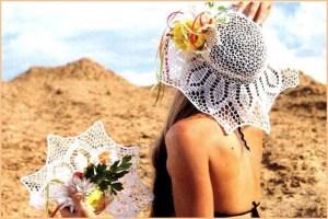 Невесомая пляжная шляпка
