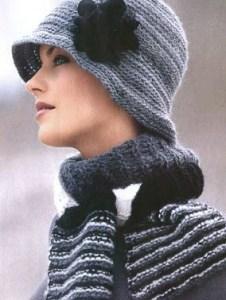 Серая шляпка в стиле тридцатых годов