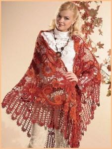 Роскошная шаль в цветочном стиле