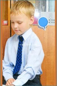 Мальчик в нарядном галстуке
